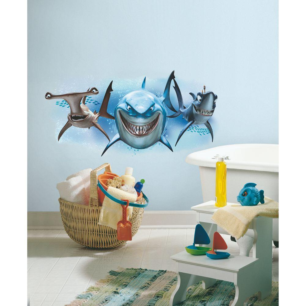 Amazing Finding Nemo Sharks Peel And Stick Giant Wall