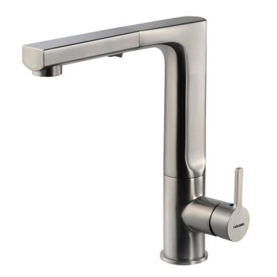 Ascend Single-Handle Pull Out Sprayer Kitchen Faucet with CeraDox Technology in Brushed Nickel
