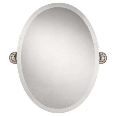 Greenwich 24 In X 18 Frameless Oval Bathroom Mirror