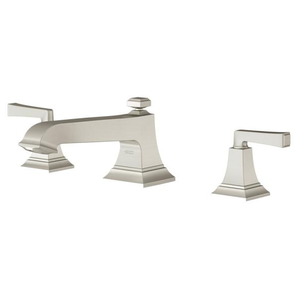 American Standard Town Square S 2 Handle Deck Mount Roman Tub Faucet In Brushed Nickel T455900 295 The Home Depot