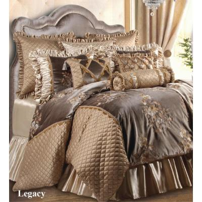 Legacy Taupe Floral 9 Piece Queen Comforter Set