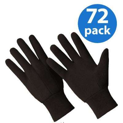 Cotton/Poly All Purpose Brown Jersey 72-Pair Value Pack