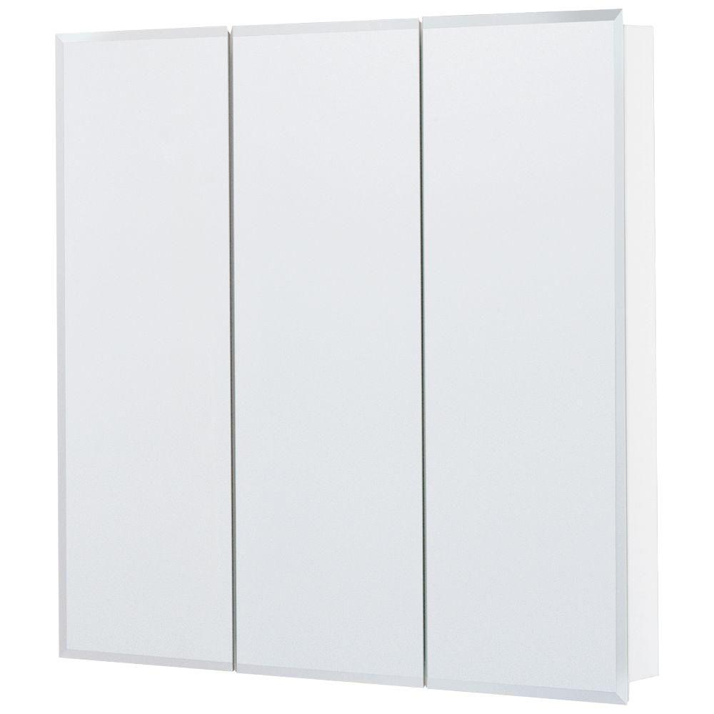 Lovely Glacier Bay 30 In. X 29 In. Frameless Surface Mount Tri View Bathroom Medicine  Cabinet In Silver T30 BM   The Home Depot