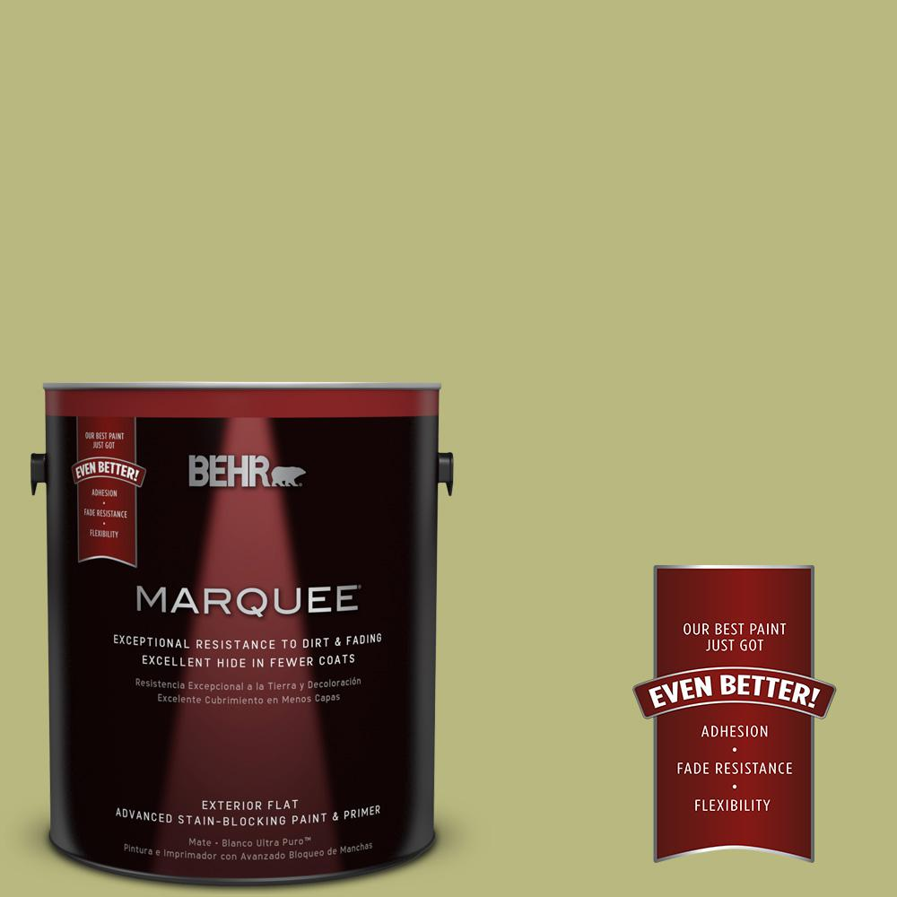 BEHR MARQUEE 1-gal. #400D-5 Grass Cloth Flat Exterior Paint