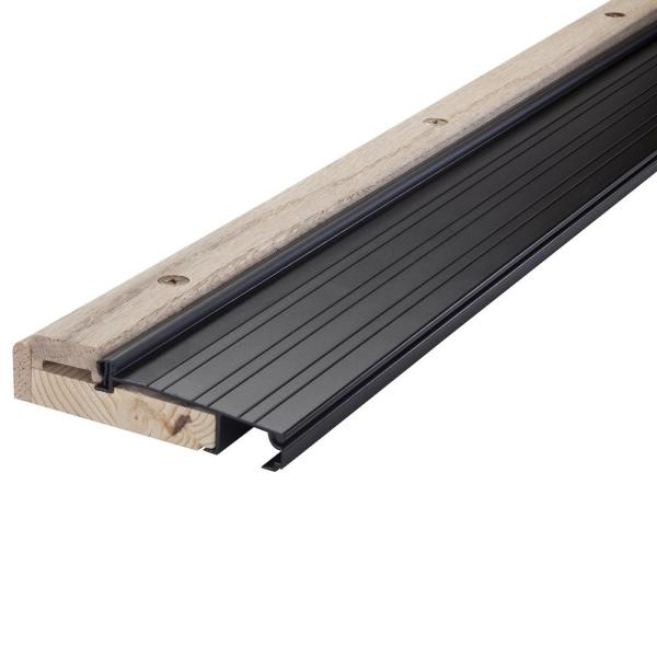 M D Building Products 1 1 8 In X 36 In Bronze Aluminum High Rug Threshold With Vinyl Seal 10017 The Home Depot