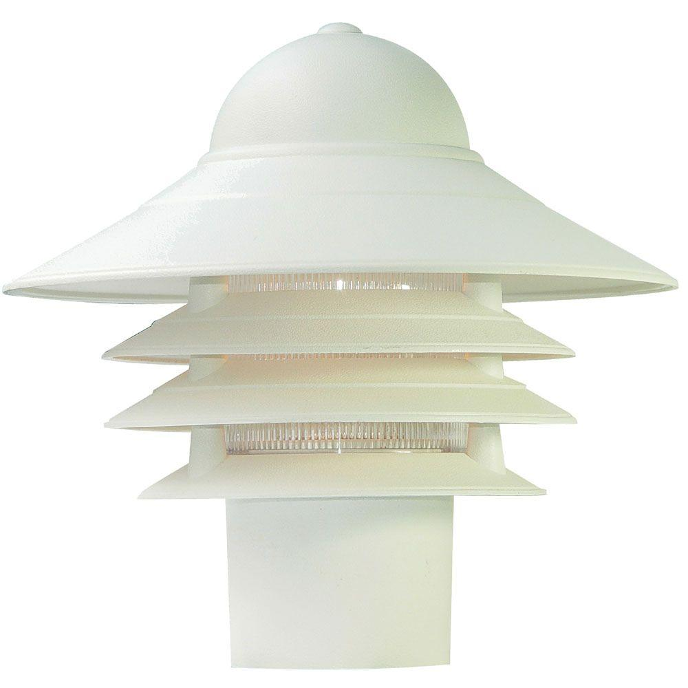 Acclaim Lighting Mariner Textured White Outdoor Post-Mount Light Fixture