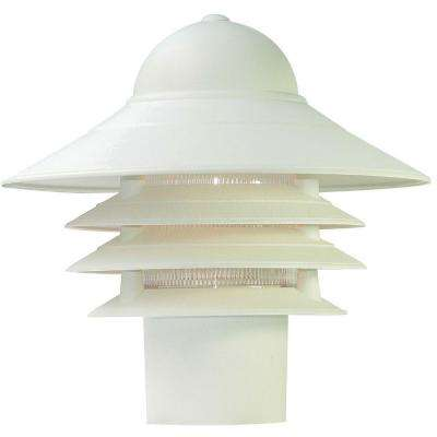 Mariner Textured White Outdoor Post-Mount Light Fixture