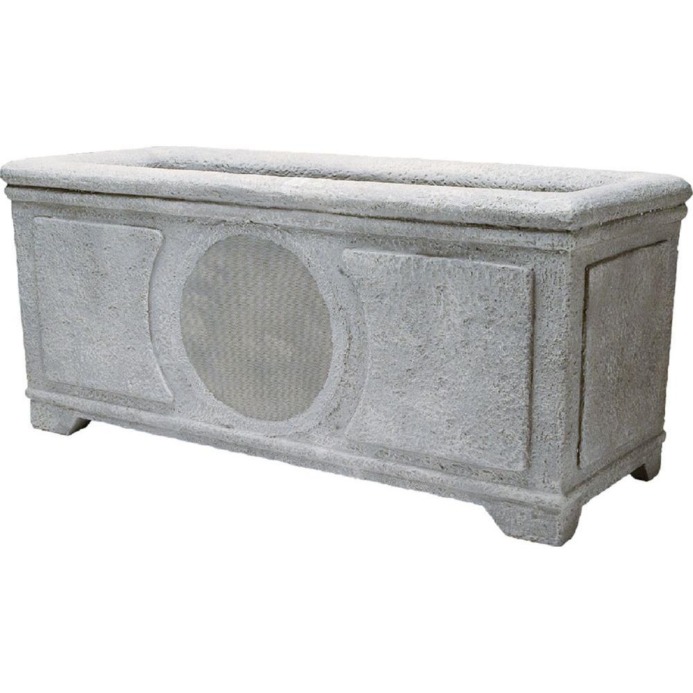 Niles 6 in. Weatherproof Planter Box Loudspeaker - Weathered Concrete-DISCONTINUED