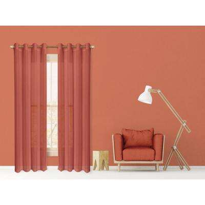 L Semi Sheer Window Panel Pair
