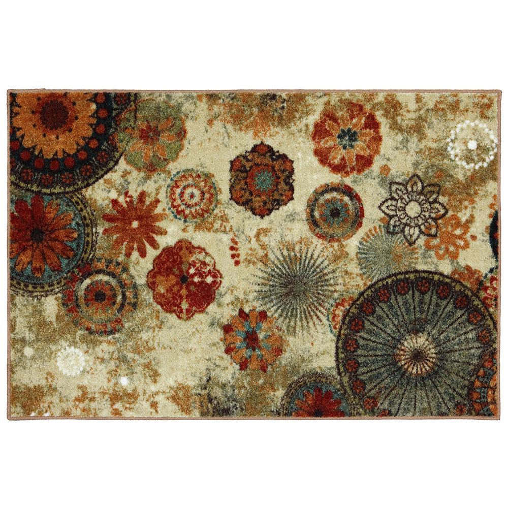 Mohawk Home Traditional Jewel Rug: Mohawk Home Caravan Medallion Multi 2 Ft. 6 In. X 3 Ft. 10