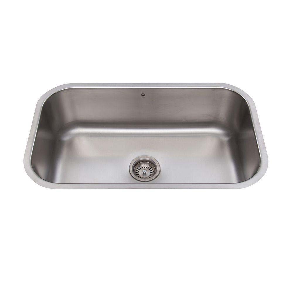 VIGO Undermount Stainless Steel 30 in. Single Bowl Kitchen Sink