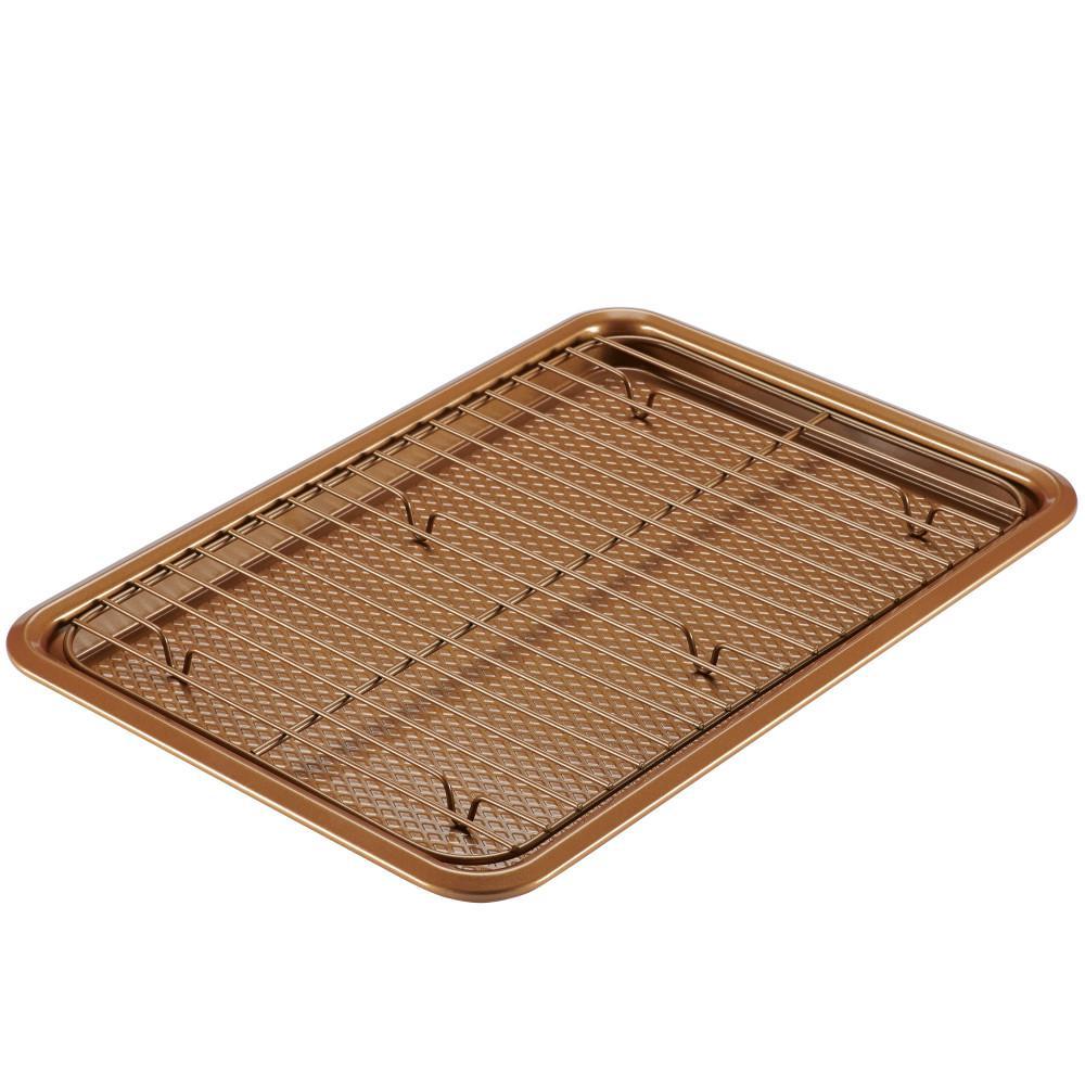 2-Piece Copper Bakeware Cookie Pan Set
