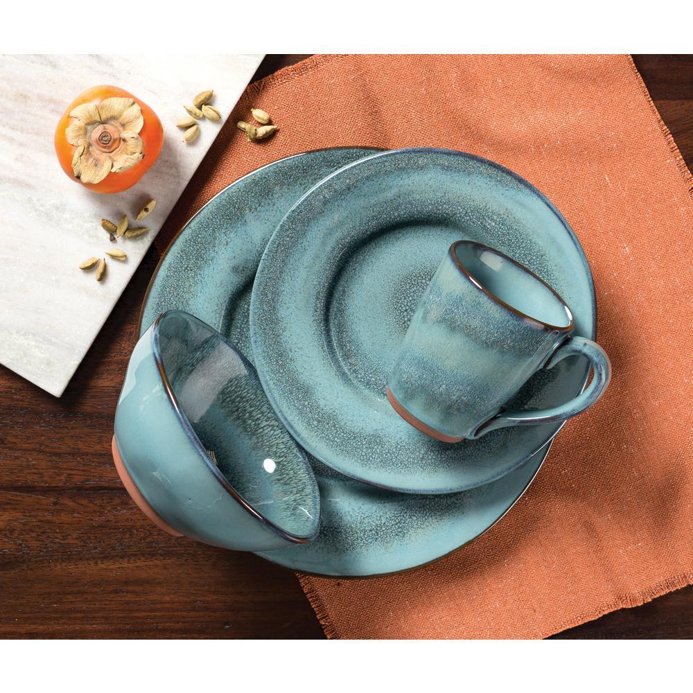 Toren 16-Piece Casual Denim Stoneware Dinnerware Set (Service for 4)