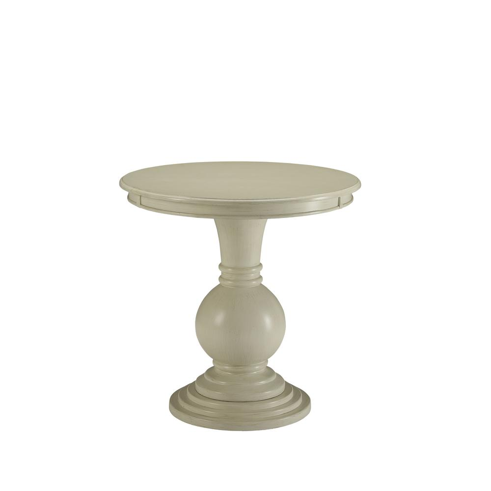 Acme Furniture Alyx Antique White Side Table 82818 The Home Depot
