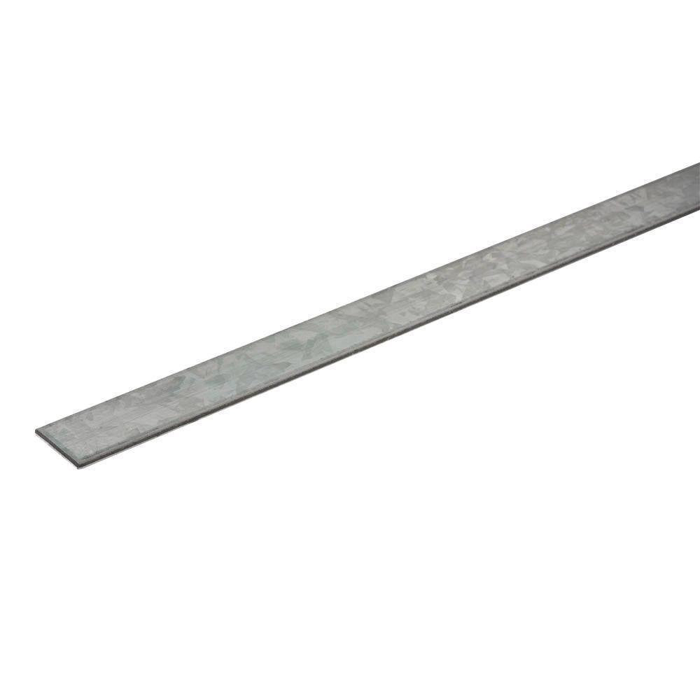 Steel Flat Bar 1-1//4 x 48 in Metal Stock Fastener 1//8 in Thick Plain Finish