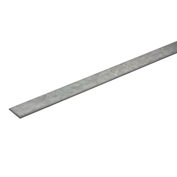 1 in. x 36 in. Zinc-Plated Flat Bar with 1/8 in. Thick