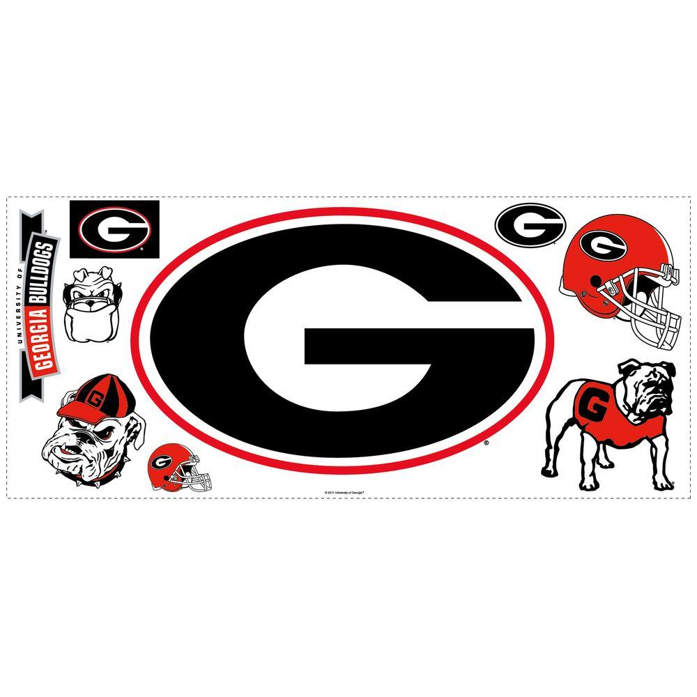 RoomMates University of Georgia Peel & Stick Giant Wall Decal with Hooks