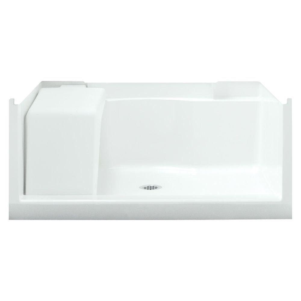 STERLING Accord Seated 48 In. X 36 In. Single Threshold Base In White