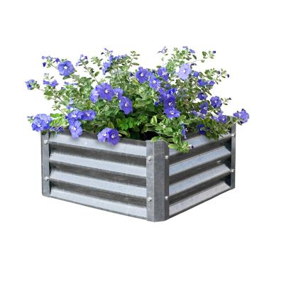 Bajo Series 22 in. x 22 in. x 10 in. Square Galvanized Metal Planter