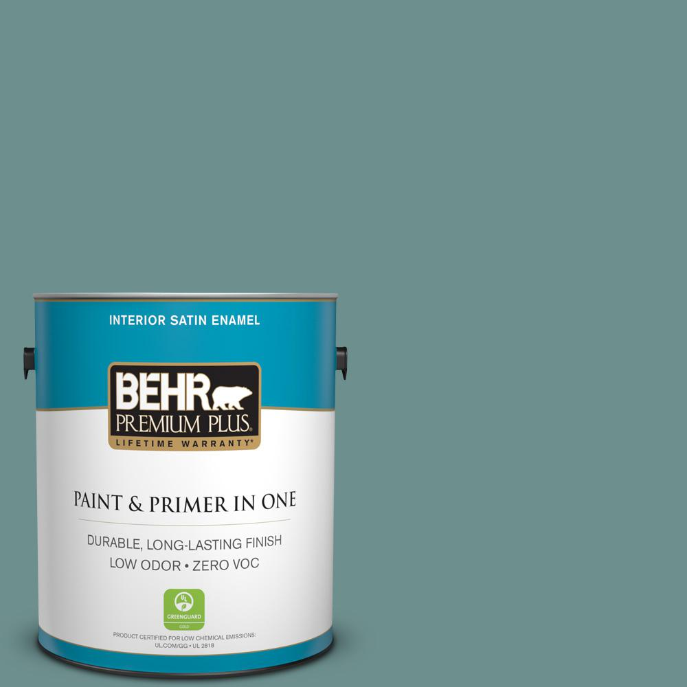 1 gal. #PPU12-03 Dragonfly Satin Enamel Zero VOC Interior Paint and