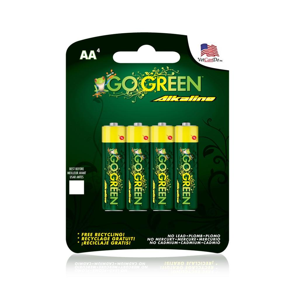 Power By Go Green AA Alkaline Battery (4 per Pack)