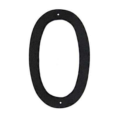 6 in. Standard House Number 0