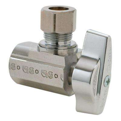 3/8 in. FIP Inlet x 3/8 in. O.D. Comp Outlet 1/4-Turn Angle Ball Valve