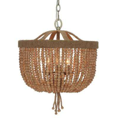 3-Light Burnished Silver Chandelier