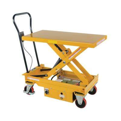 1,000 lb. 39.75 in. x 20.5 in. Dc Powered Scissor Cart