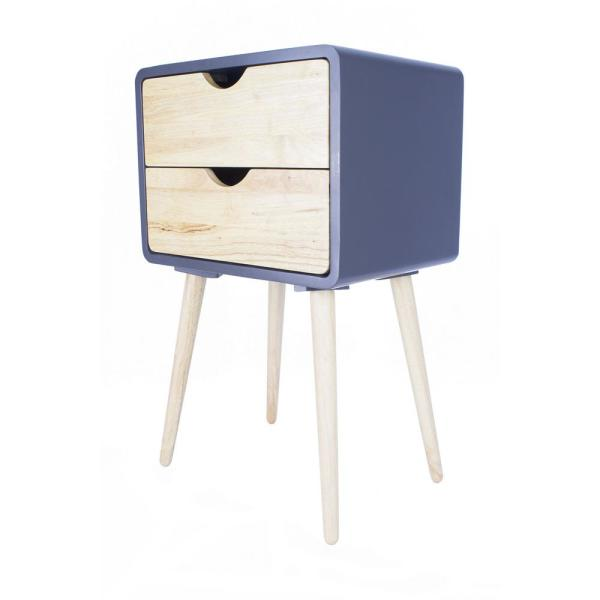 Shelly Graphite Wood End Table