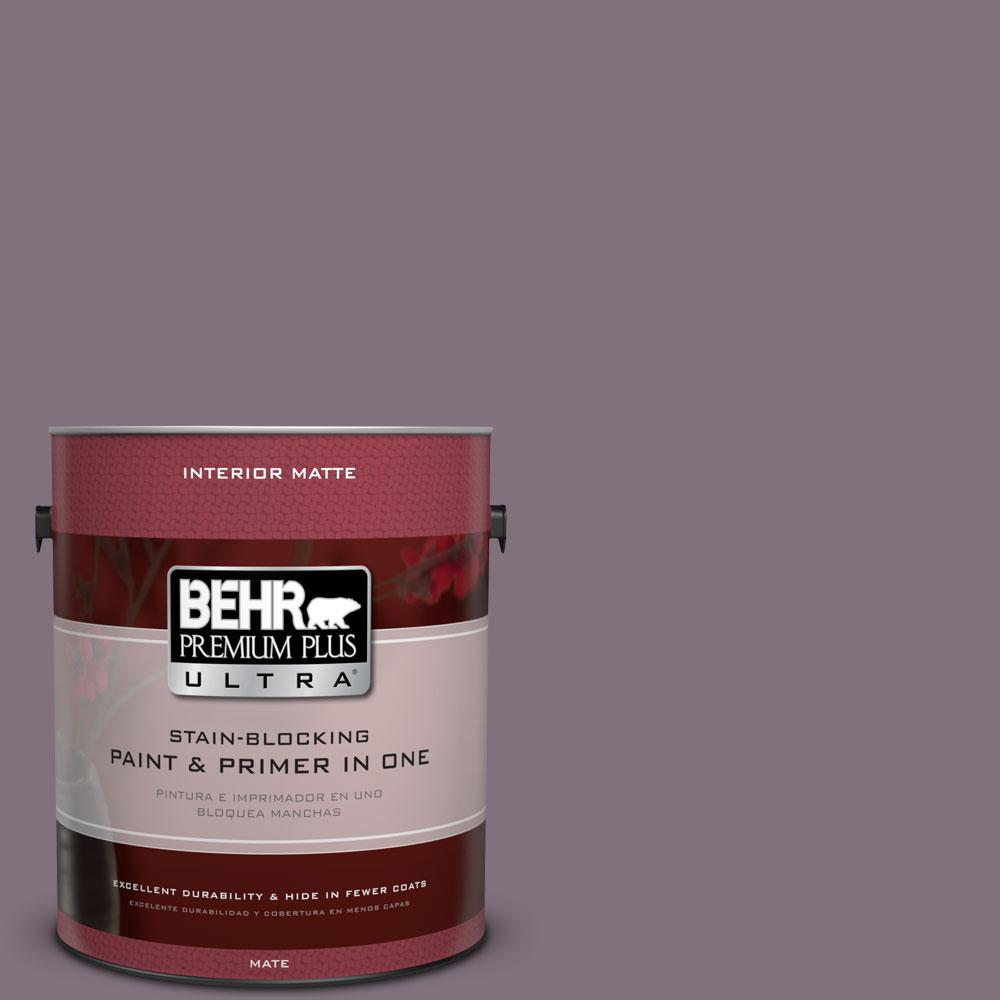 BEHR Premium Plus Ultra 1 gal. #690F-6 Wine Frost Flat/Matte Interior Paint
