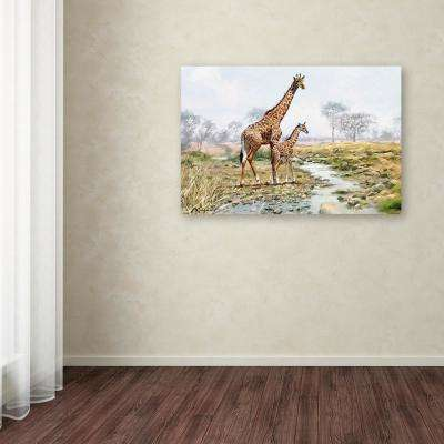 "30 in. x 47 in. ""Giraffe"" by The Macneil Studio Printed Canvas Wall Art"