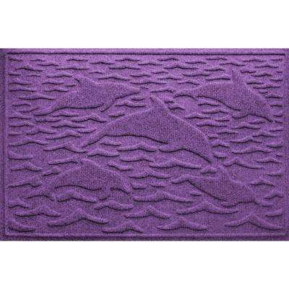 Purple 24 in. x 36 in. Statement of Porpoise Polypropylene Door Mat