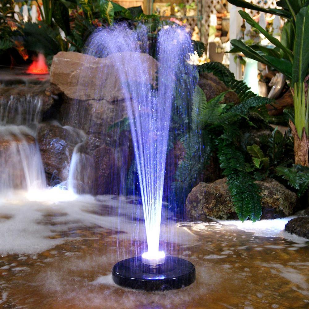 Solarrific Solar Powered Floating Fountain For Birdbath Or