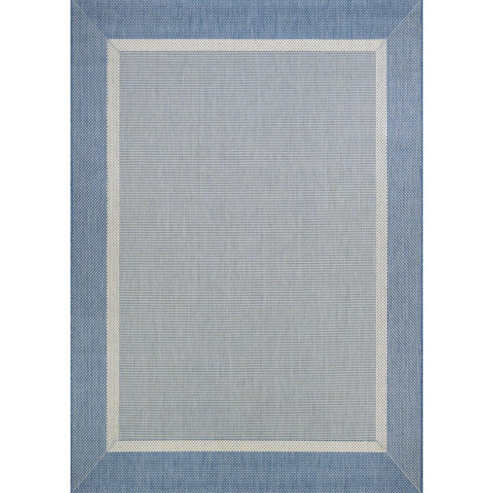 Recife Stria Texture Champagne-Blue 5 ft. x 8 ft. Indoor/Outdoor Area