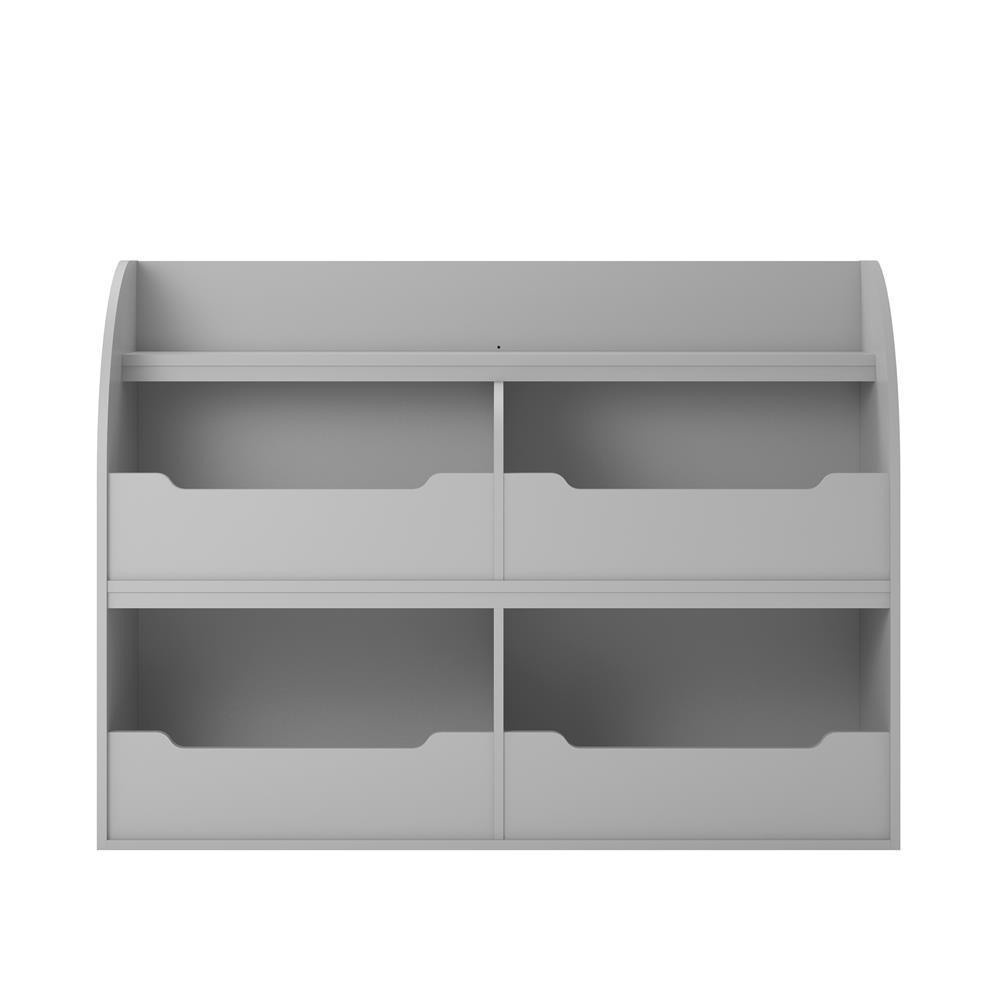 Neptune Dove Gray Toy Storage Bookcase