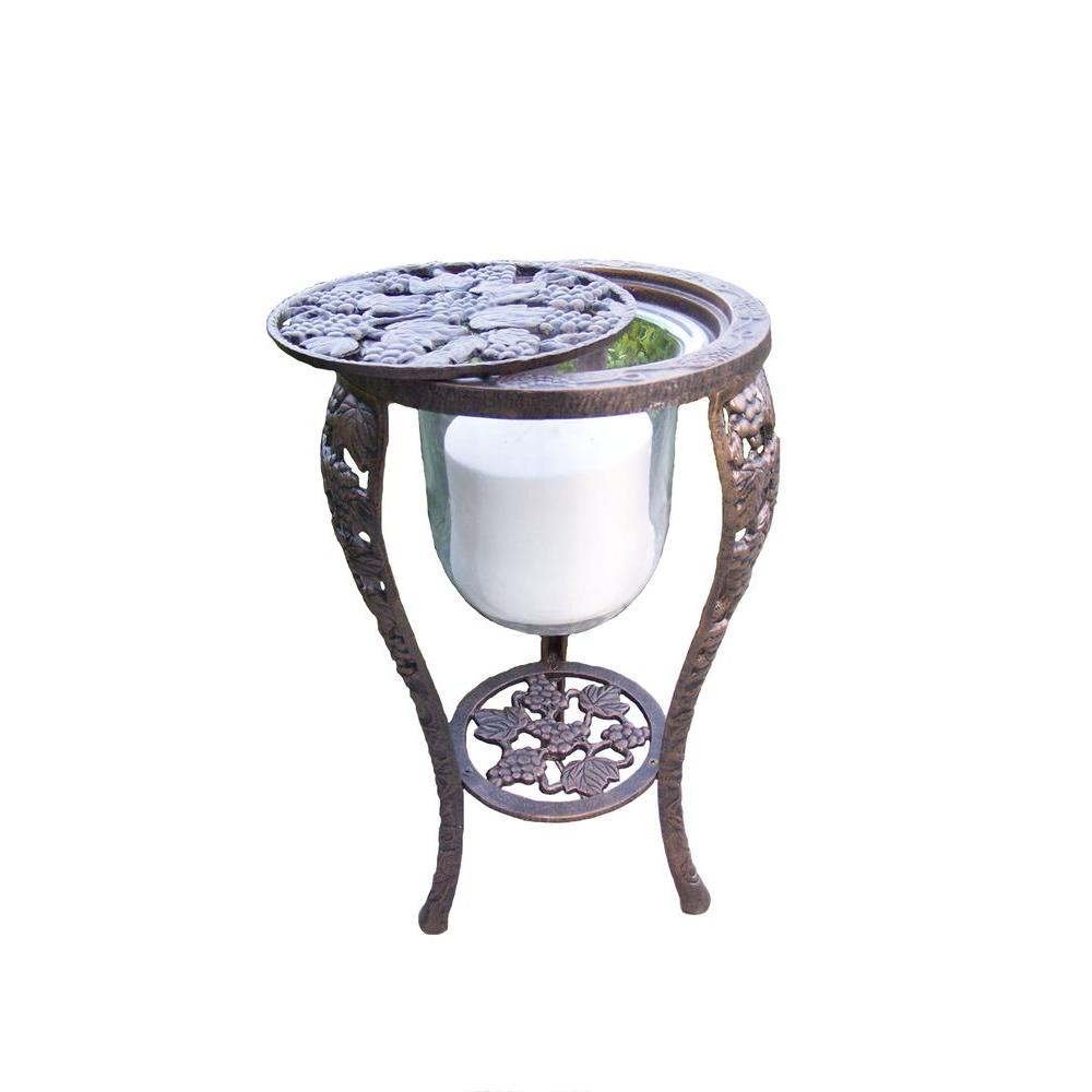 Oakland Living 27-1/2 in. Grape Candle Holder Table Stand
