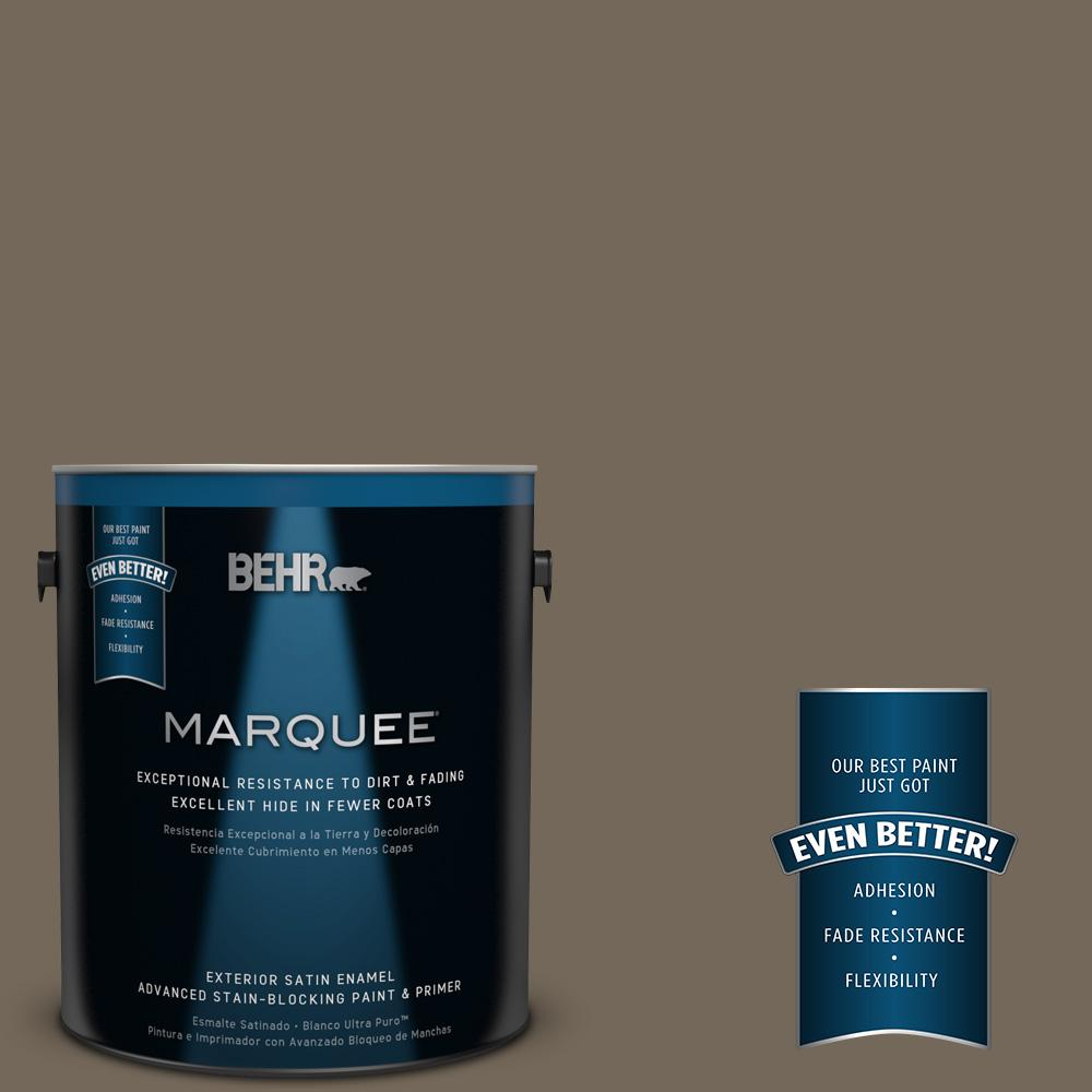 BEHR MARQUEE 1-gal. #720D-6 Toasted Walnut Satin Enamel Exterior Paint
