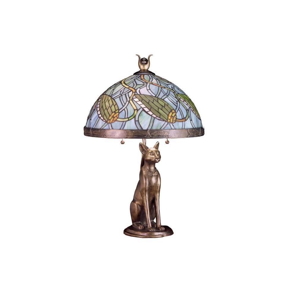 Illumine 2 Light Lotus Bud Basket Table Lamp