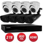 Connected Pro 8-Channel 960H 2TB Surveillance System with (8) 800TVL Camera