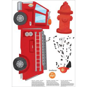 Red Fire Station Wall Decal
