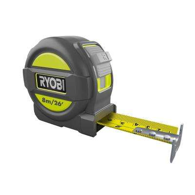 8m/26 ft. Tape Measure with Metric and English Scale