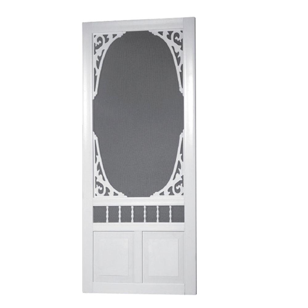 Charmant Screen Tight 36 In. X 80 In. Georgian Solid Vinyl White Screen Door