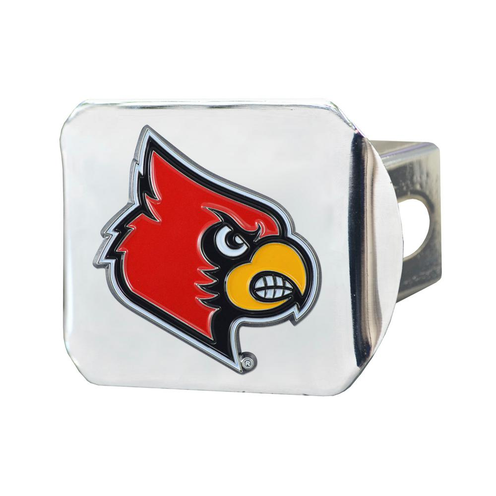 FANMATS NCAA University of Louisville Cardinals Chrome Hitch Cover