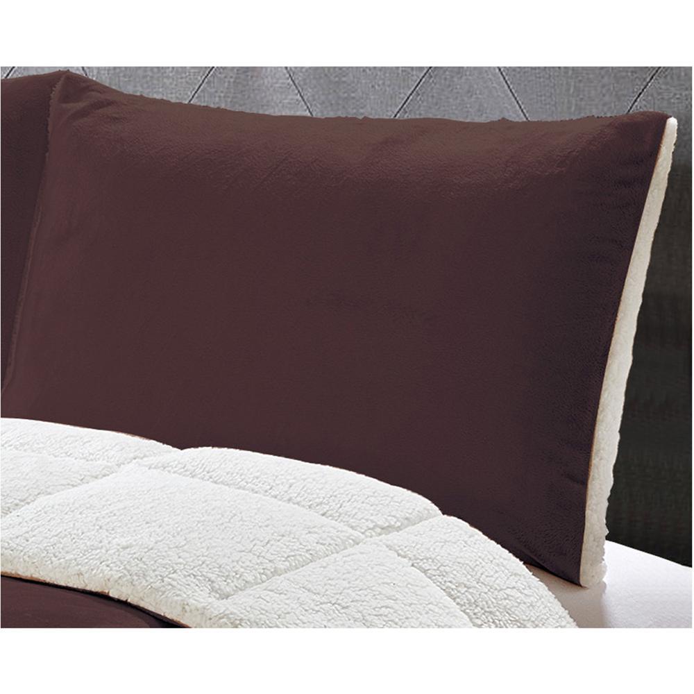 Micromink 3-Piece Chocolate Full/Queen Comforter Set