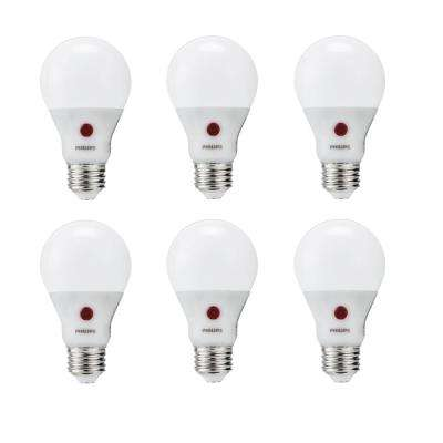 60-Watt Equivalent A19 Dusk To Dawn Automatic On/Off Energy Saving LED Light Bulb Soft White (2700K) (6-Pack)