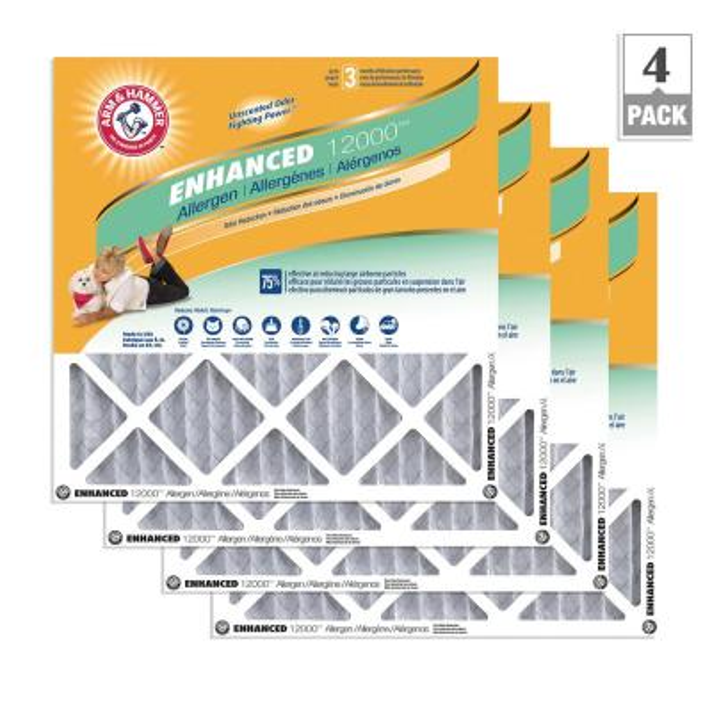 4-Pack Arm & Hammer Enhanced Allergen and Odor Control FPR 6 Air Filter