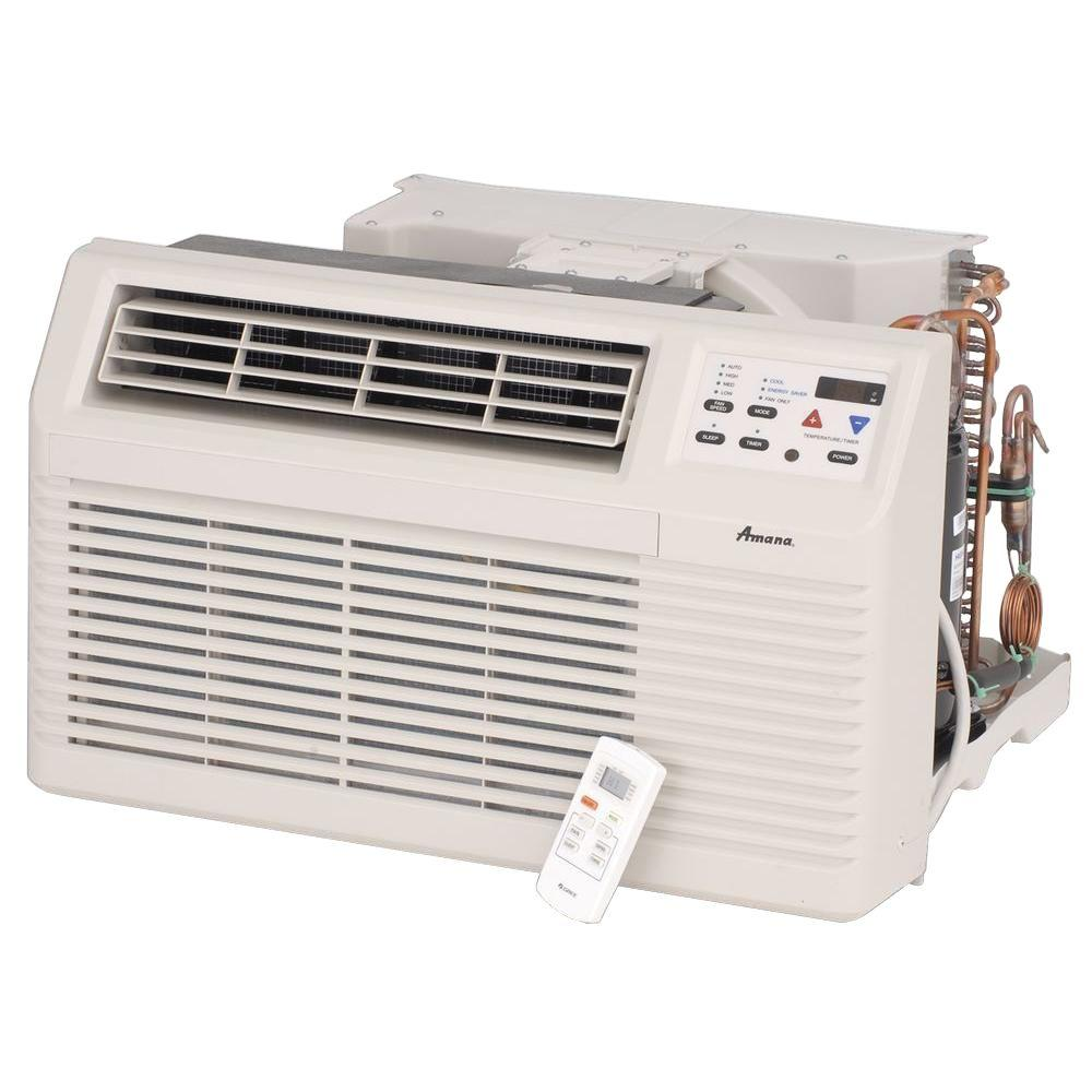 Amana 7,400 BTU 230-Volt/208-Volt Through-the-Wall Air Conditioner and Heat Pump with 3.5 kW Electric Heat and Remote