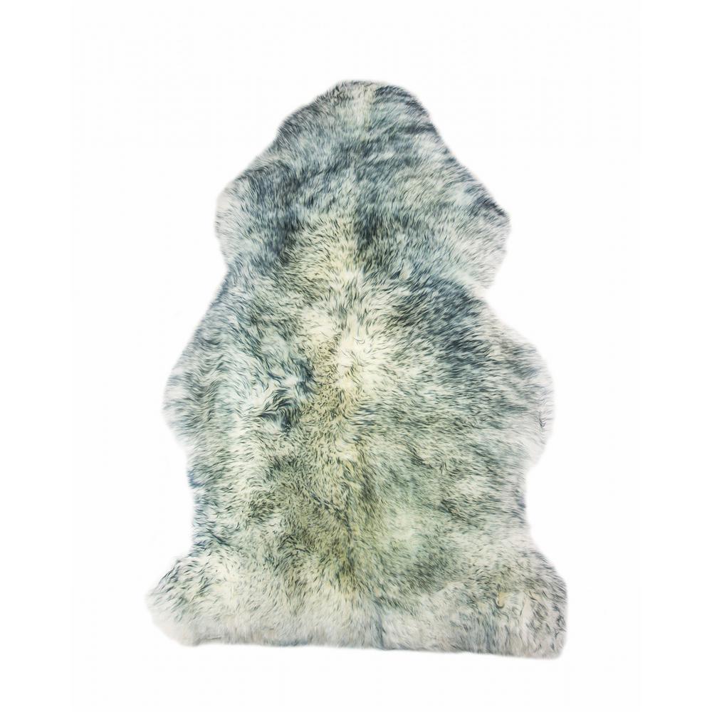 Josephine Gradient Grey 2 ft. x 3 ft. Specialty Sheepskin Area Rug