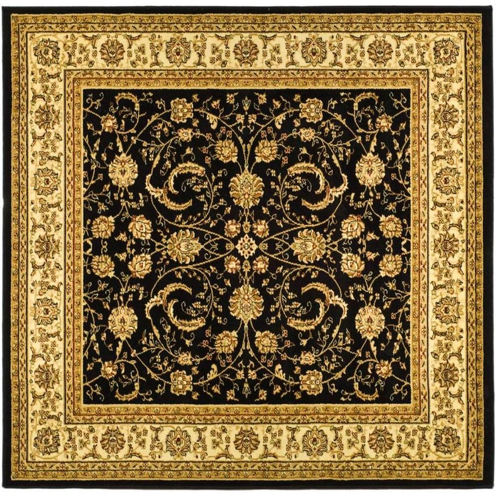 Lyndhurst Black/Ivory 6 ft. x 6 ft. Square Area Rug